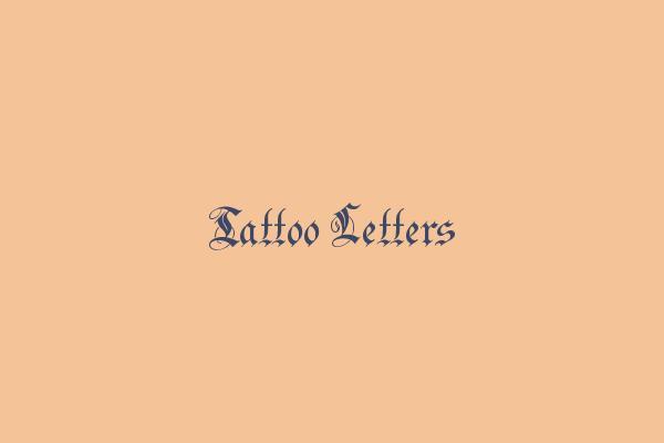 Tattoo Letters Genereer Tatoeage Teksten Met Verschillende